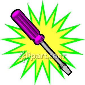 300x297 Flat Head Screwdriver Royalty Free Clipart Picture