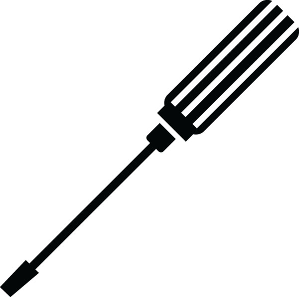 600x597 Black Clipart Screwdriver