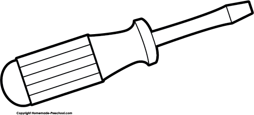 520x236 Black Clipart Screwdriver