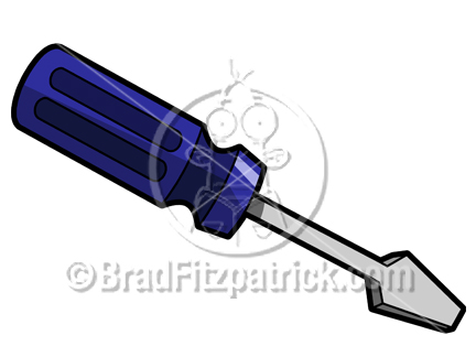 432x324 Cartoon Screwdriver Clipart Picture Royalty Free Screw Driver
