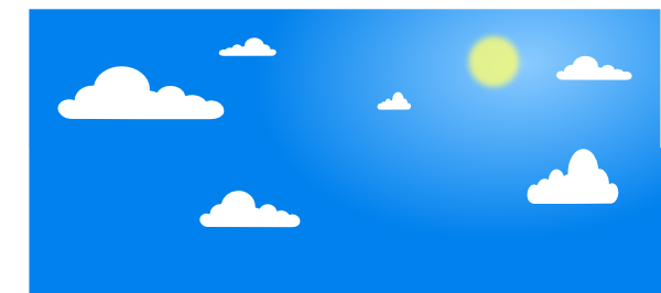 600x266 Sky Clip Art