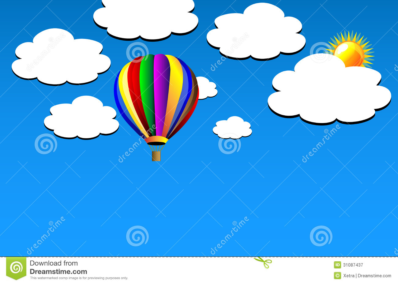 1300x928 Colorful Hot Air Balloons In The Sky Clipart Panda