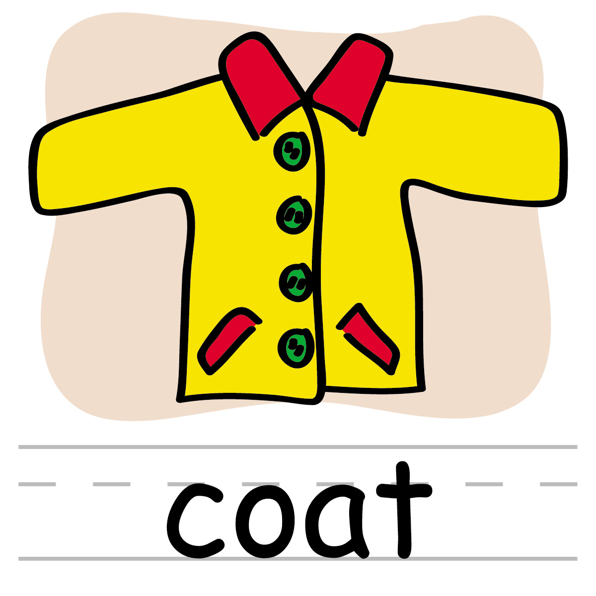 1200x1200 Clip Art Basic Words Coat Clipart Panda