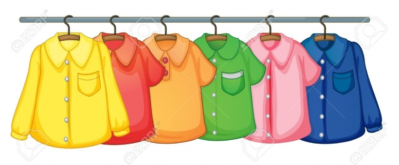 820x340 Clip Art Clothing Display Racks Cliparts