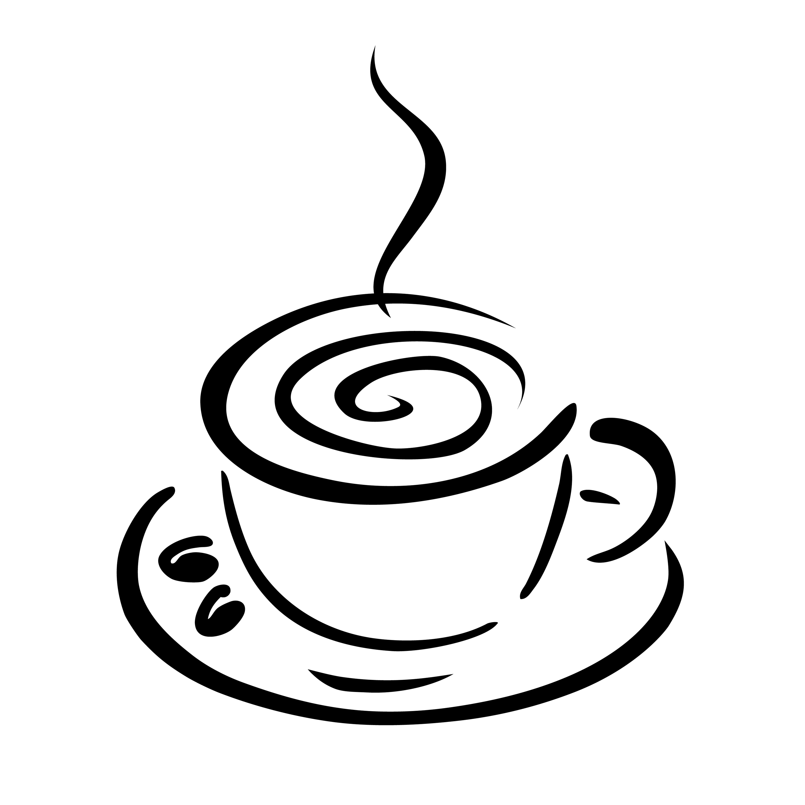2800x2800 Coffee Cup Clip Art Black White Free Clipart Images 2