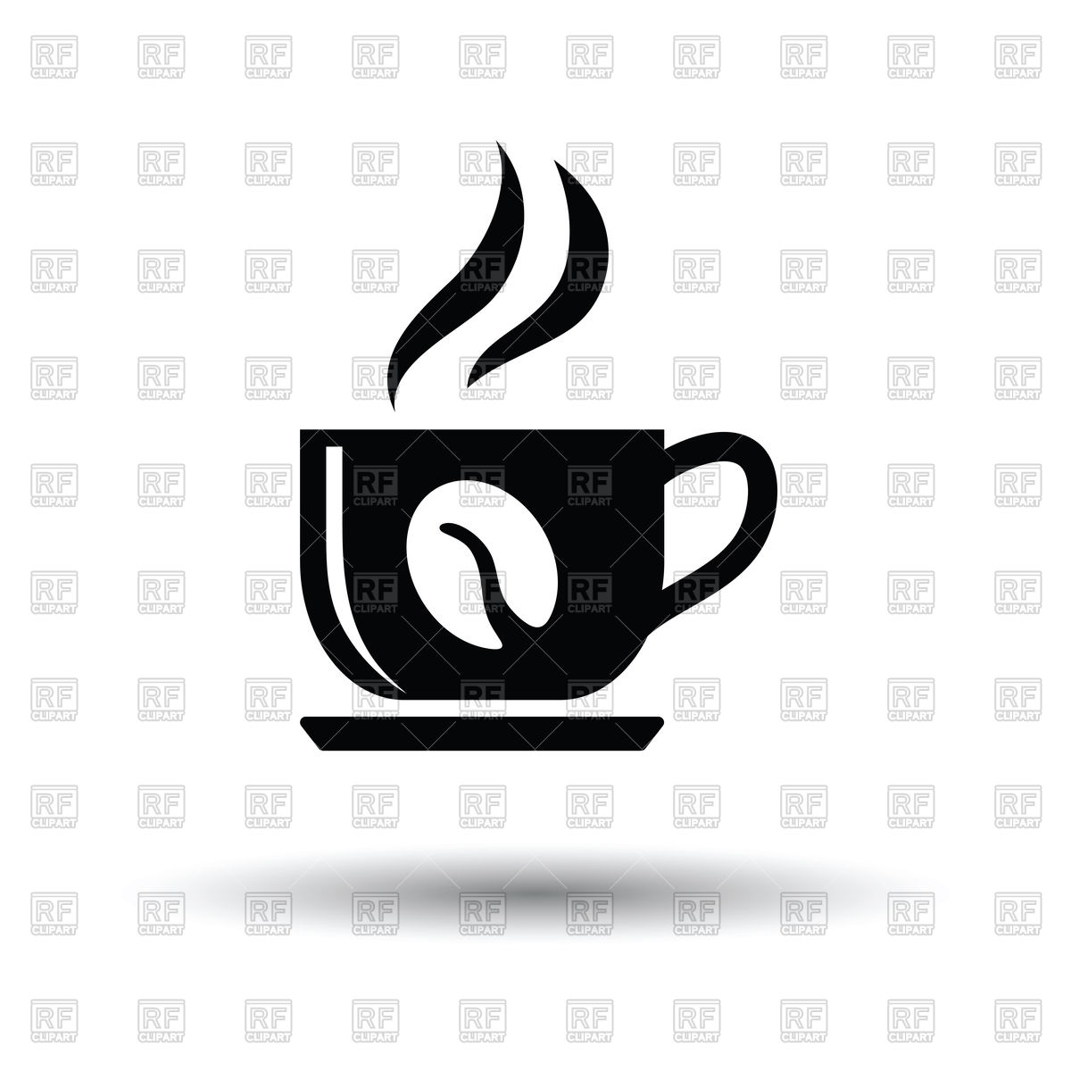 1200x1200 Coffee Cup Icon On White Background Royalty Free Vector Clip Art