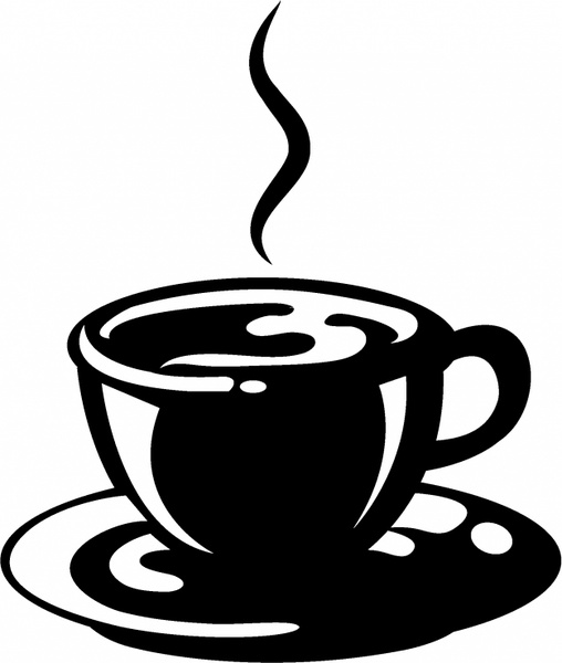 508x600 Cup Of Coffee Free Vector In Adobe Illustrator Ai ( Ai