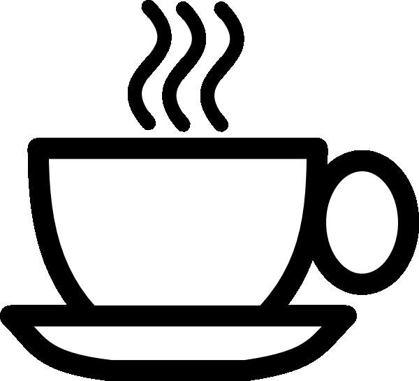 600x545 Bw Coffee Cup Clip Art