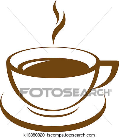 403x470 Clipart Of Vector Icon Of Coffee Cup K14027731