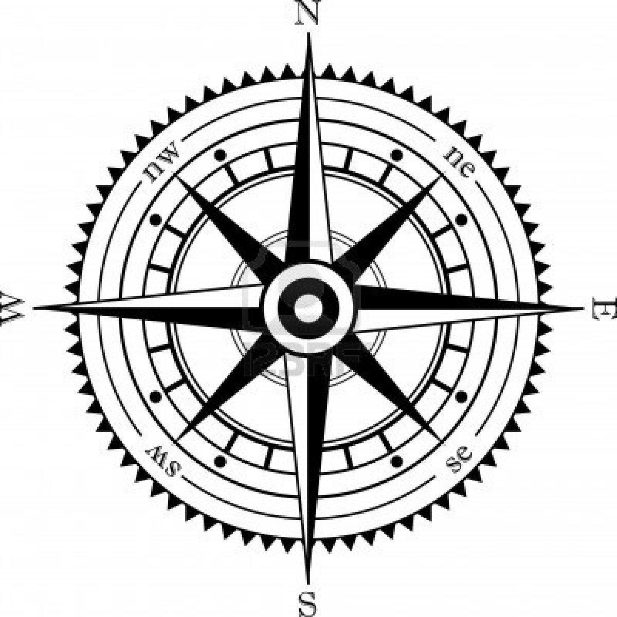 1200x1200 Compass Clipart Wind
