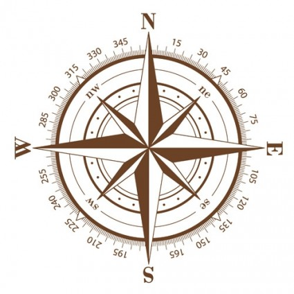 425x424 Compass Vector Vector Art