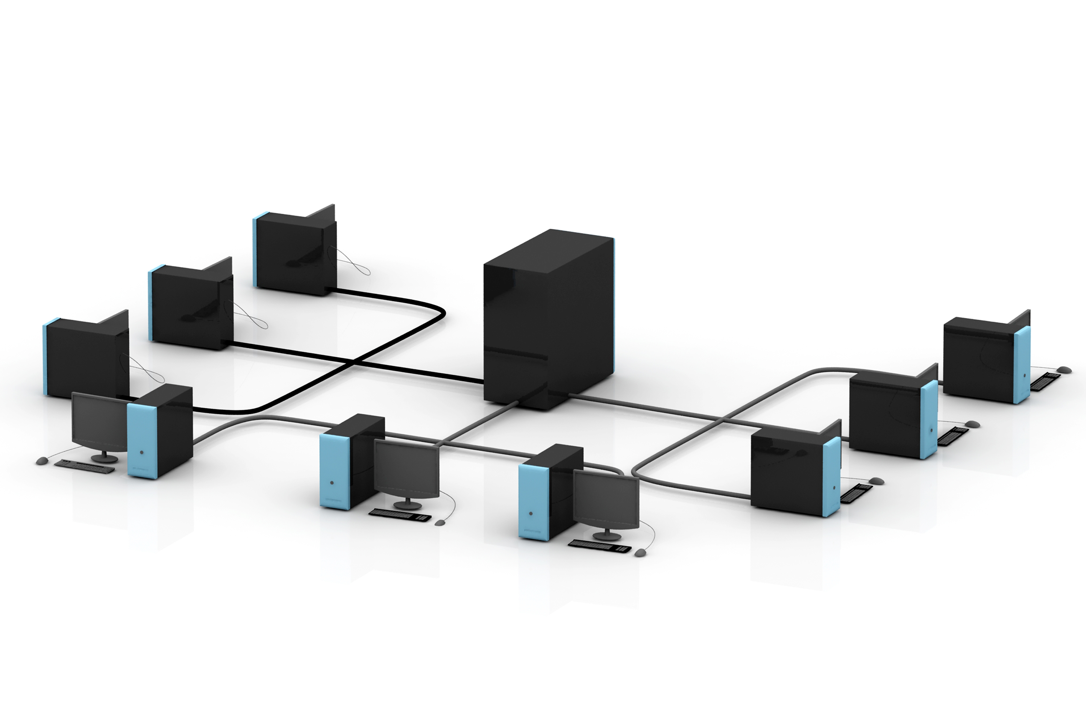 3600x2400 Server Computer Networking Clipart
