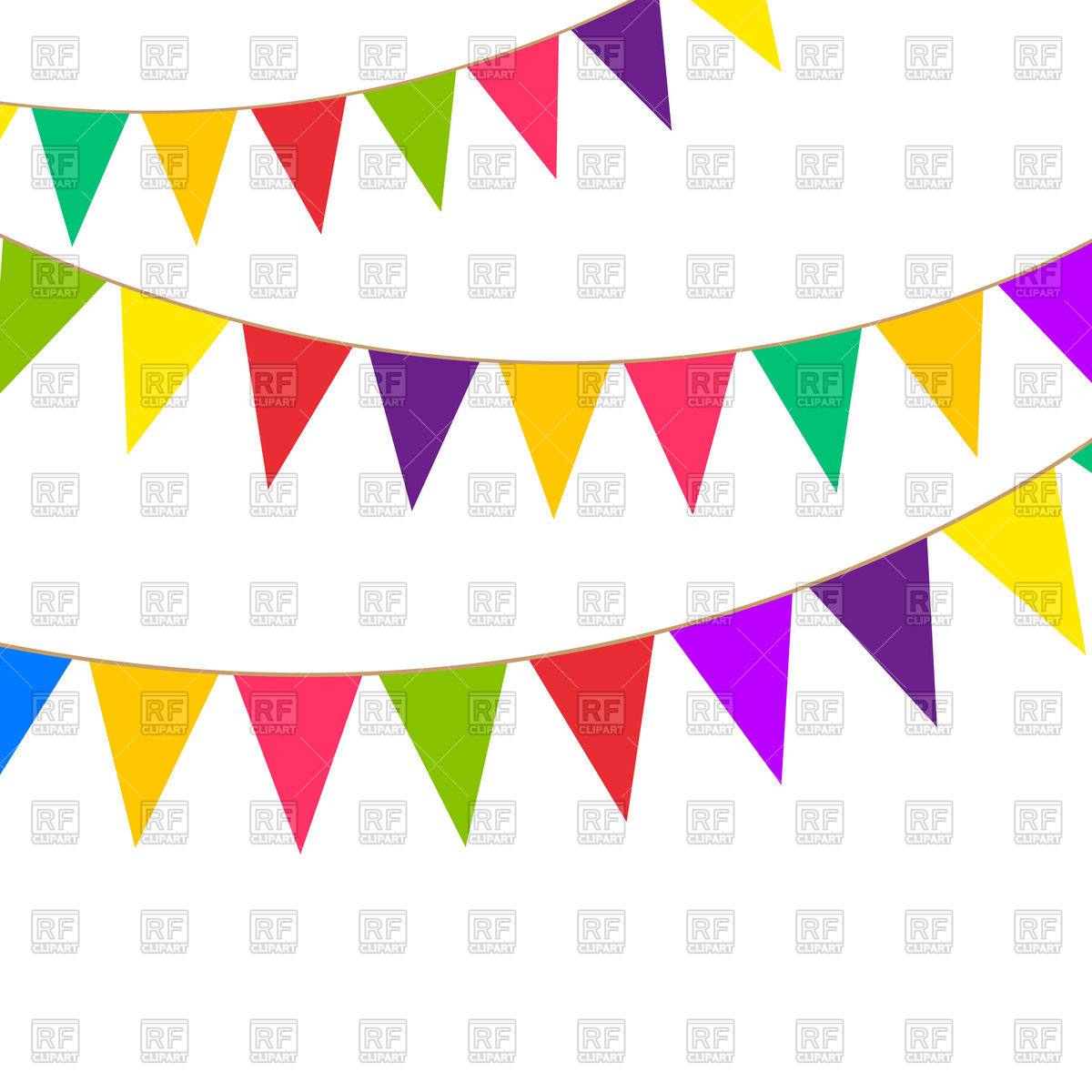 1200x1200 Bunting Background With Confetti Royalty Free Vector Clip Art
