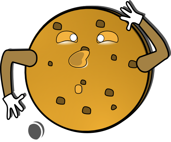 600x499 Crazy Cookie Clip Art Free Vector 4vector