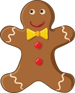 241x300 Free Gingerbread Clip Art Image Gingerbread Man Cookie