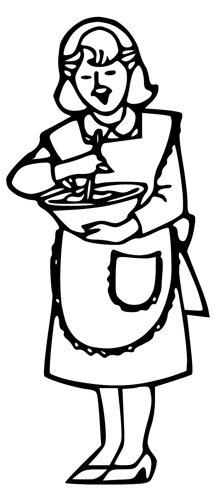 720x1607 Free Mother Cooking Clipart Image