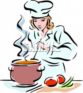 270x300 Chef Cooking Clipart
