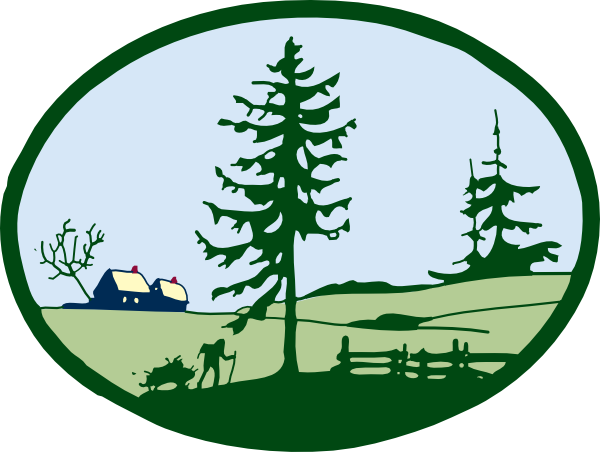 600x452 Country Scene Clip Art Free Vector 4vector