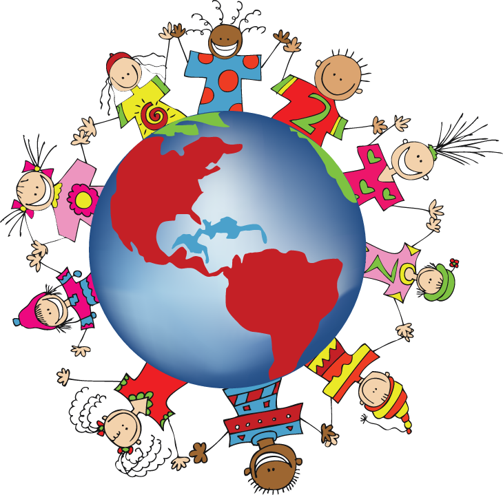 730x719 Country Clipart Kid Around World