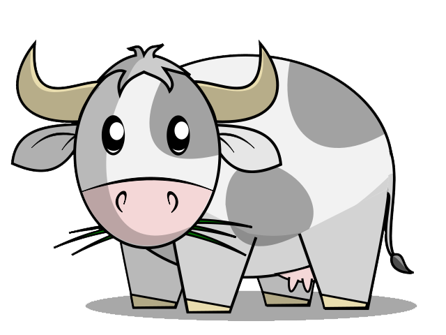 640x480 Cow Clipart Gray