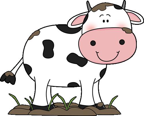 500x402 Cute Cow Clipart