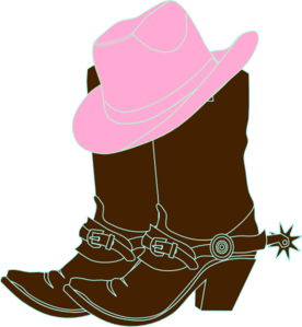 276x299 Cowgirl Boots And Pink Cowgirl Hat Clip Art