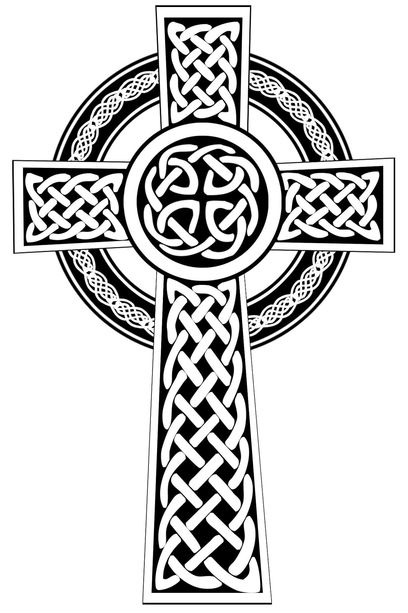 1400x2100 Best Free Celtic Cross Clip Art File