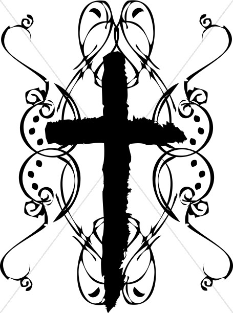 Free Cross Clipart Black And White