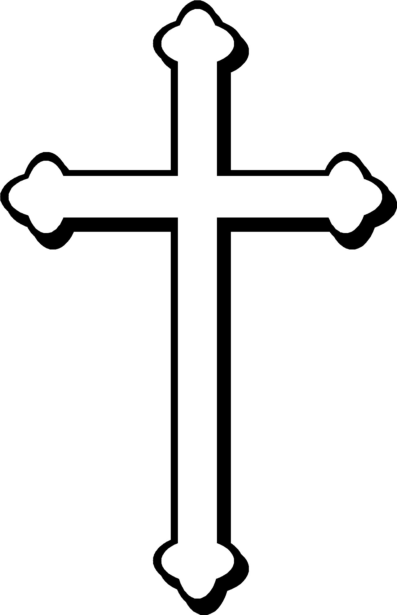 1281x1982 Cross Clipart Black And White
