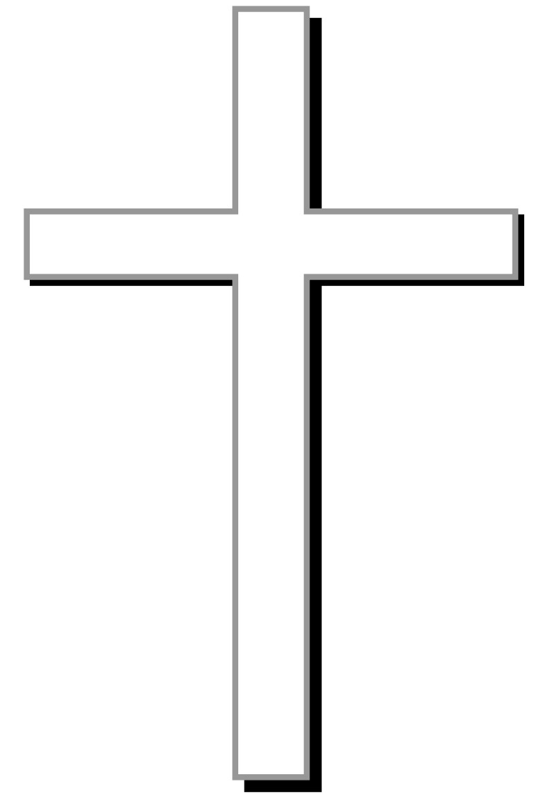 800x1161 Cross Clipart Black And White