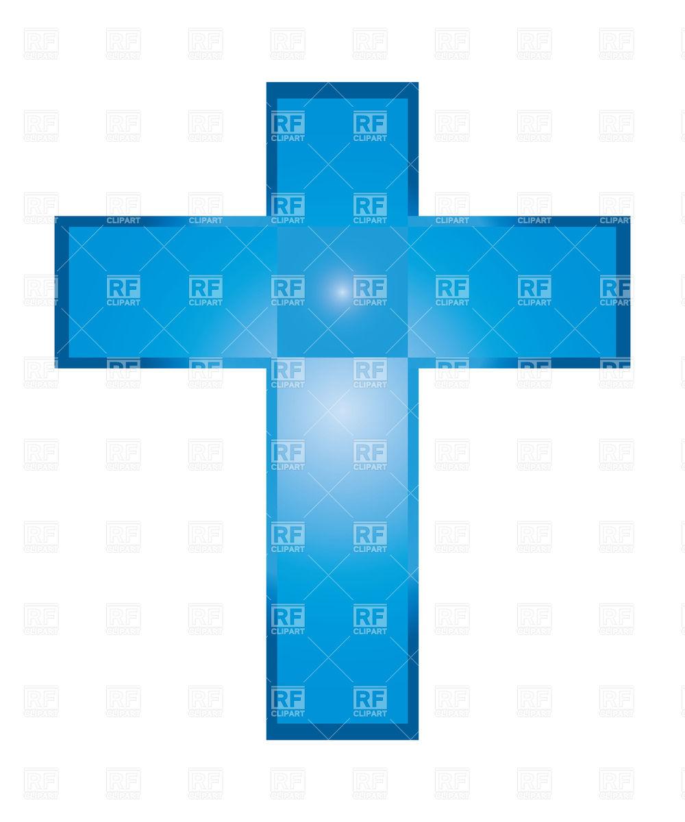 1000x1200 Blue Baptism Cross Clipart