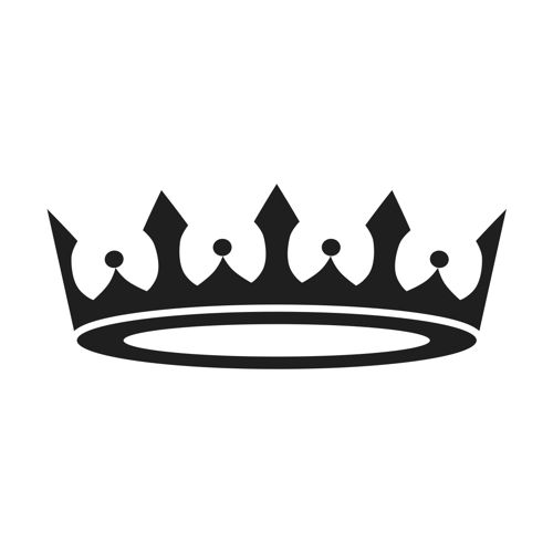 500x500 Crown Black And White Tiara Princess Crown Clipart Free Images