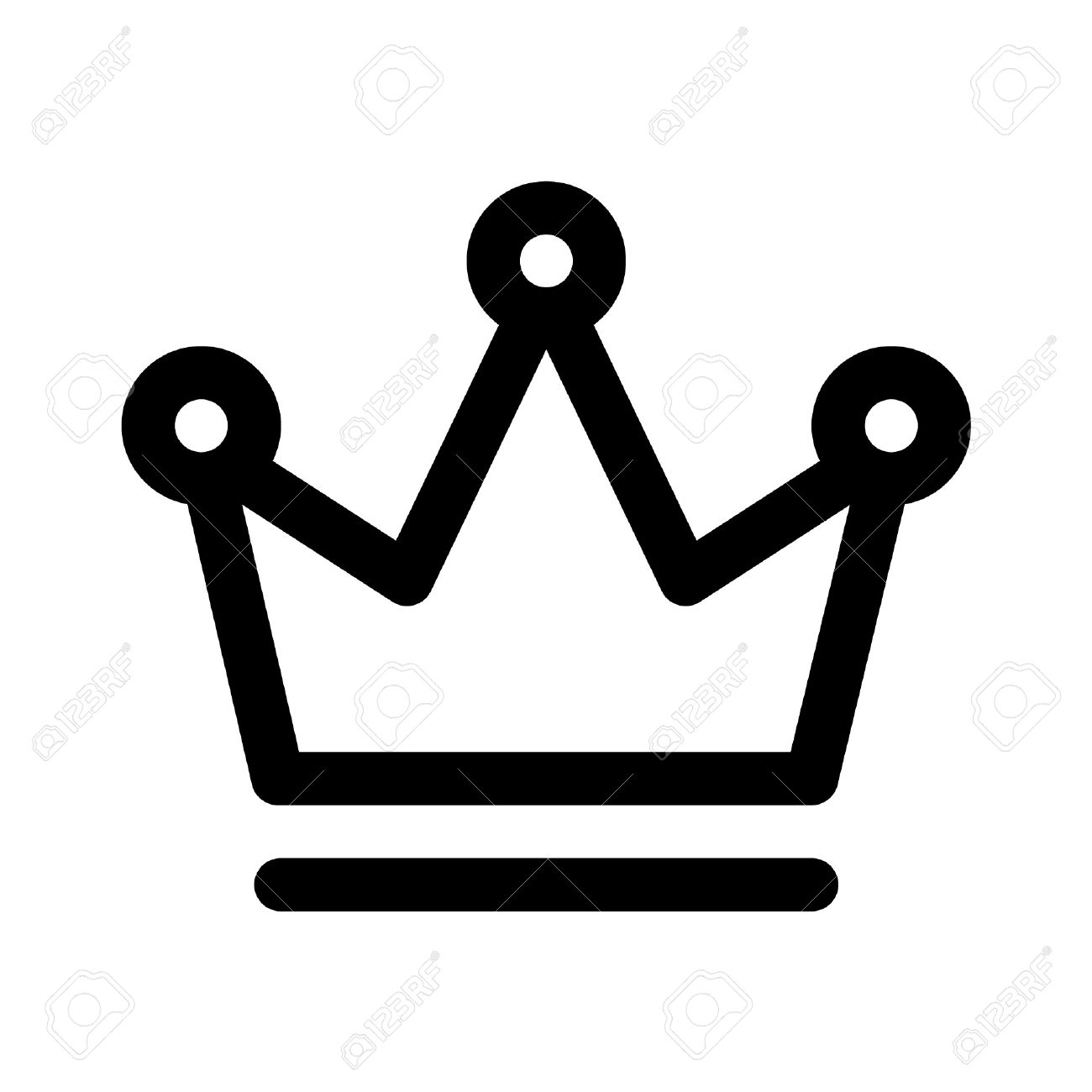 1300x1300 Crown Outline Logo Clipart