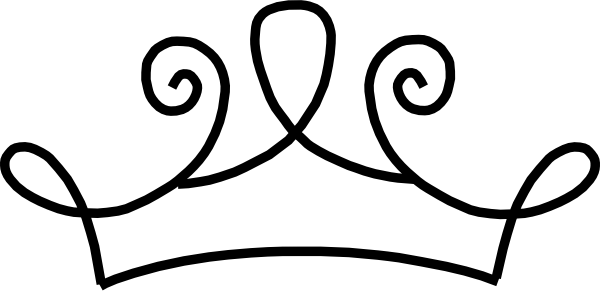 600x291 Black Princess Crown Clip Art
