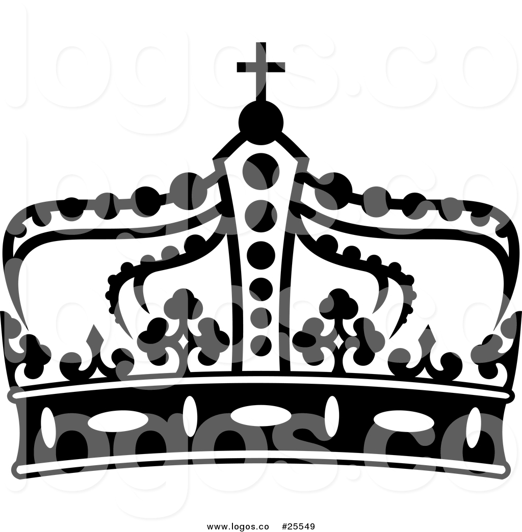 1024x1044 Royalty Free Vector Logo Of A Black And White Royal Crown By
