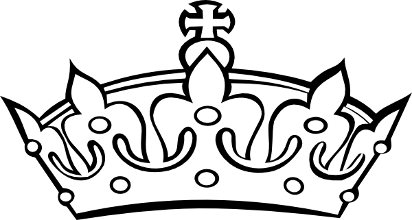 600x321 Blacknwhite Crown Clip Art