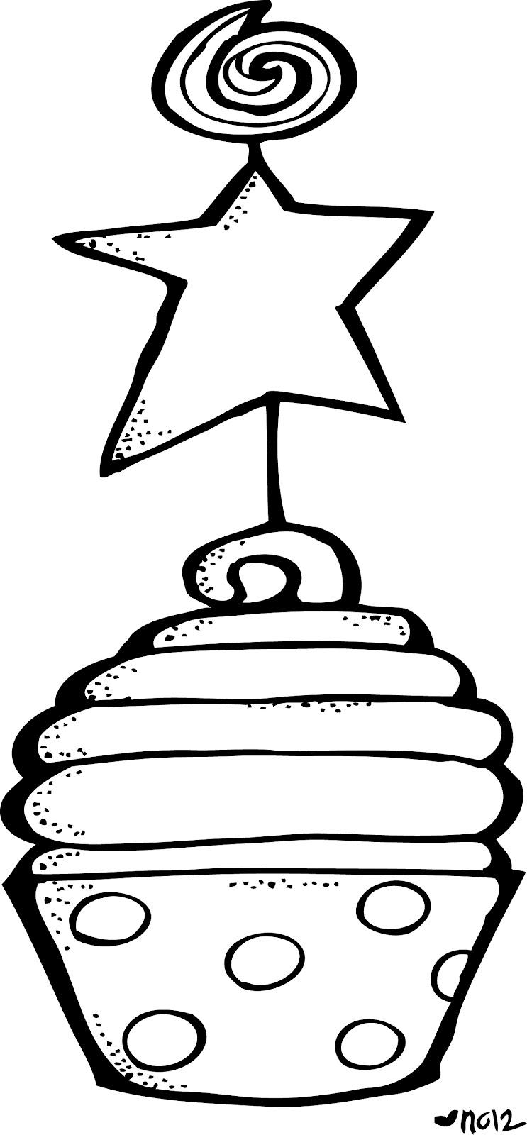 743x1600 Cupcake Black And White Cupcake Clipart Black And White Free