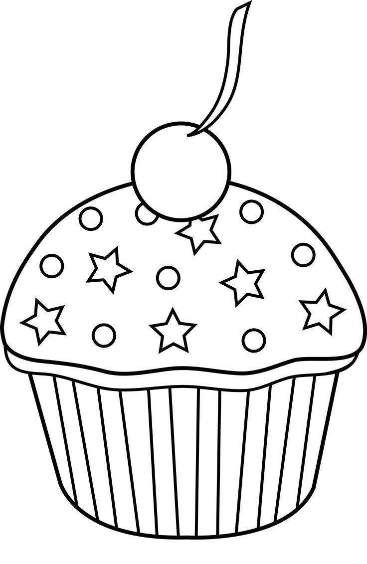 736x1131 Best Cupcake Outline Ideas Cupcake Template