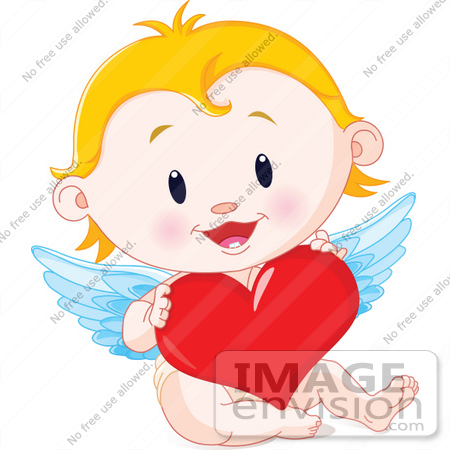 450x450 Royalty Free (Rf) Clip Art Illustration Of A Blond Baby Cupid