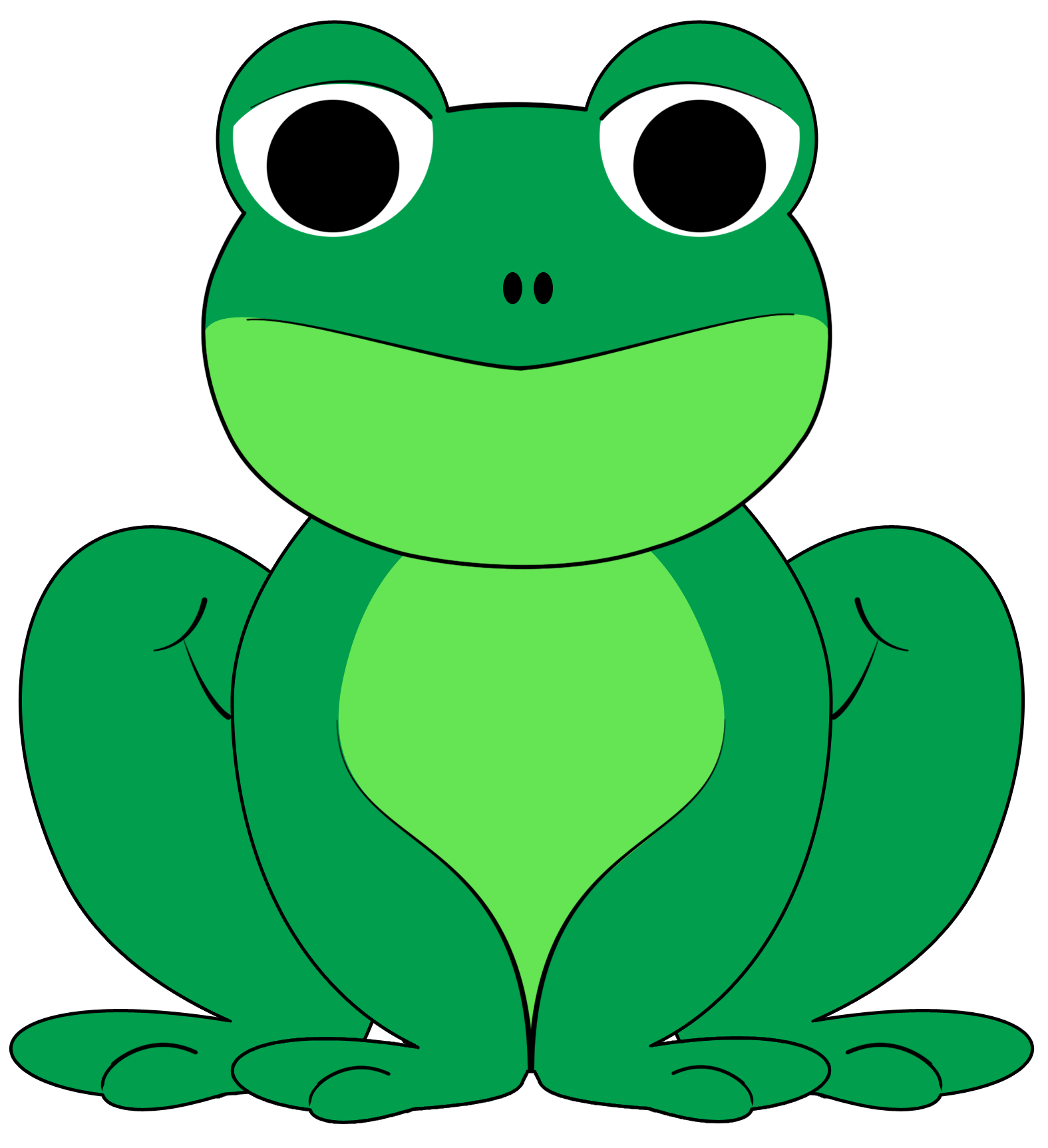 1575x1725 Cute Frog Clipart Clipartfest