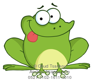 300x260 Cute Cartoon Frog