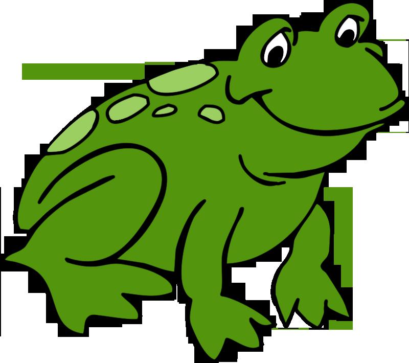 800x710 Cute Frog Clipart