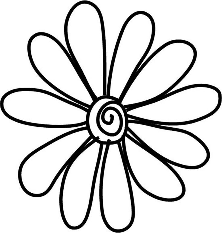 736x774 Daisy Clipart Line Drawing