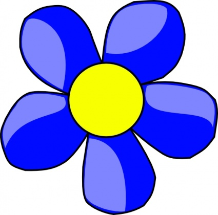 425x420 Blue Daisy Flower Clipart Free Clip Art Images Image 8 4