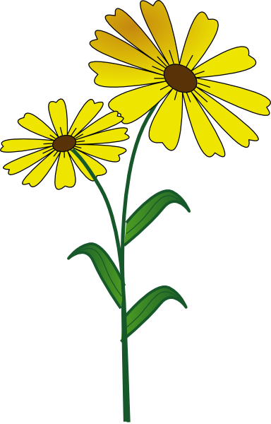 384x600 Daisy Flower Clip Art Free Vector For Download About Clipartix 2
