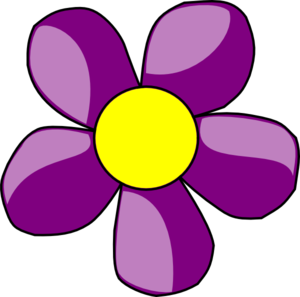 300x297 Purple Daisy Clip Art