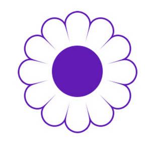 300x300 Purple Clipart Daisy Flower