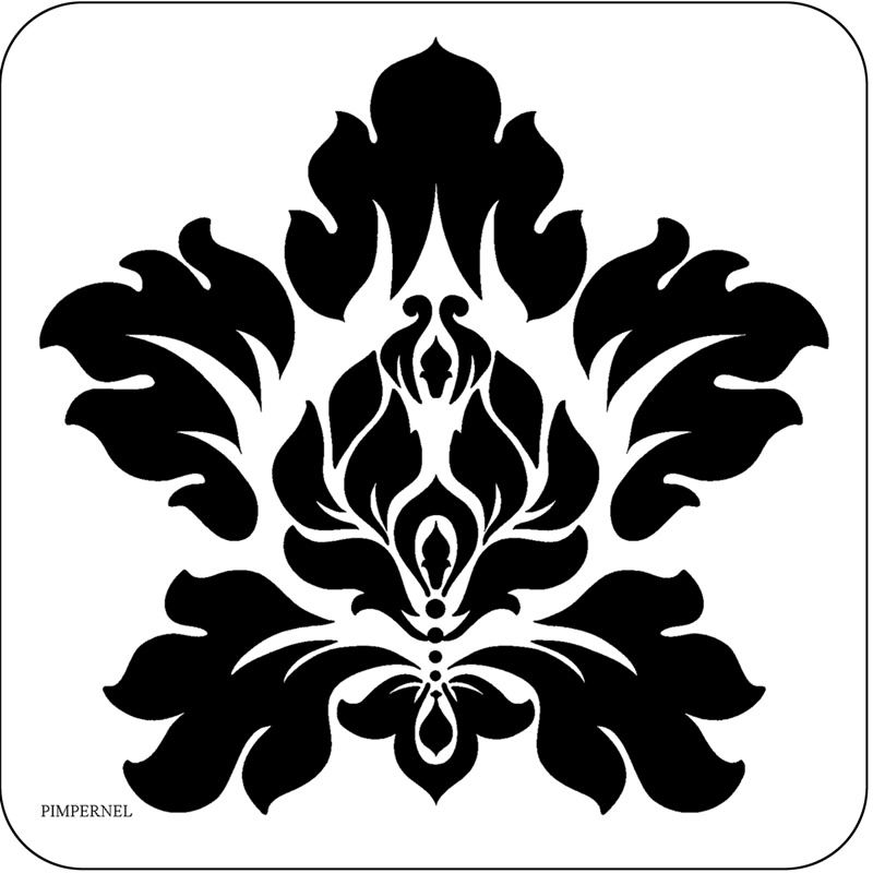 800x800 Damask Clipart Simple
