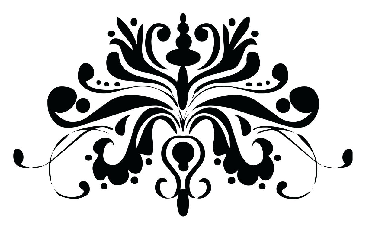 1222x814 Black And White Damask Wallpaper Border Background Free Download
