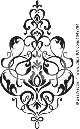 280x450 Royalty Free (Rf) Clip Art Illustration Of A Black Vintage Elegant